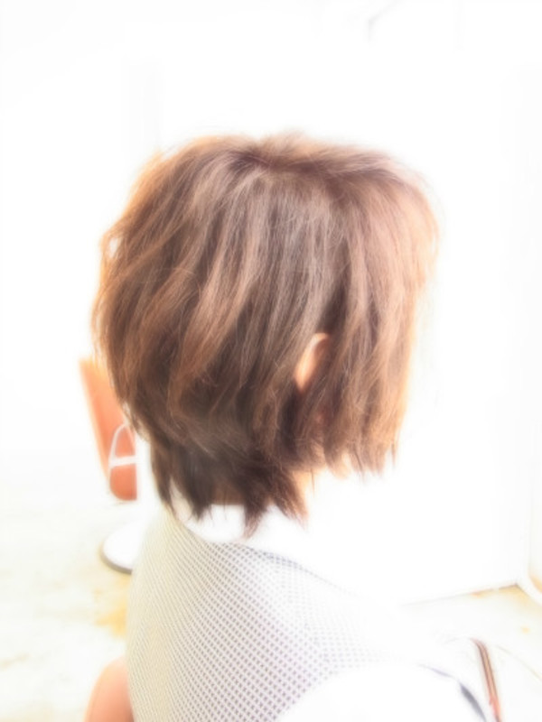 スタイリング簡単プレミアムスーパーカット☆☆☆☆☆&ナチュラルShortヘアスタイル☆のサムネイル