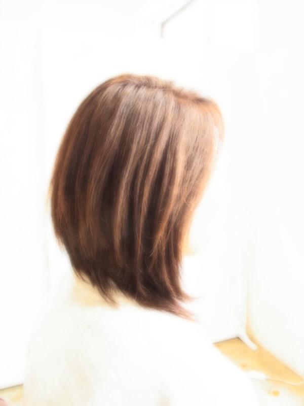 スタイリング簡単プレミアムスーパーカット☆☆☆☆☆&後ろ上がりミディアムヘアスタイル☆のサムネイル