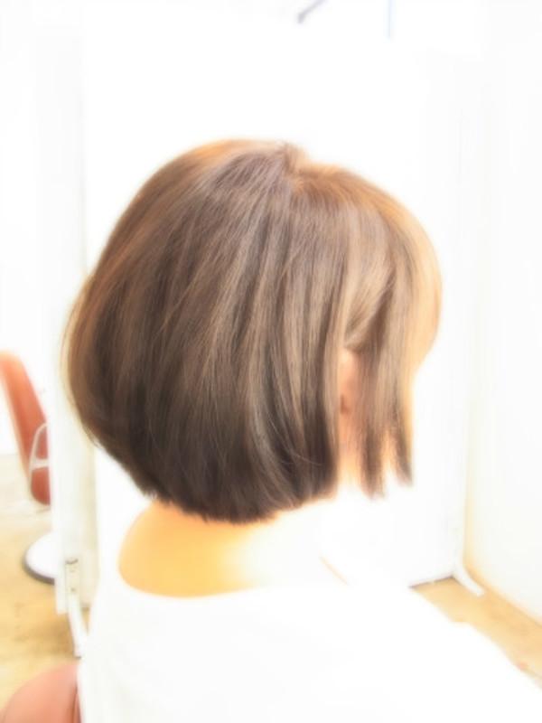 スタイリング簡単プレミアムスーパーカット☆Shortボブ☆ヘアスタイル☆のサムネイル