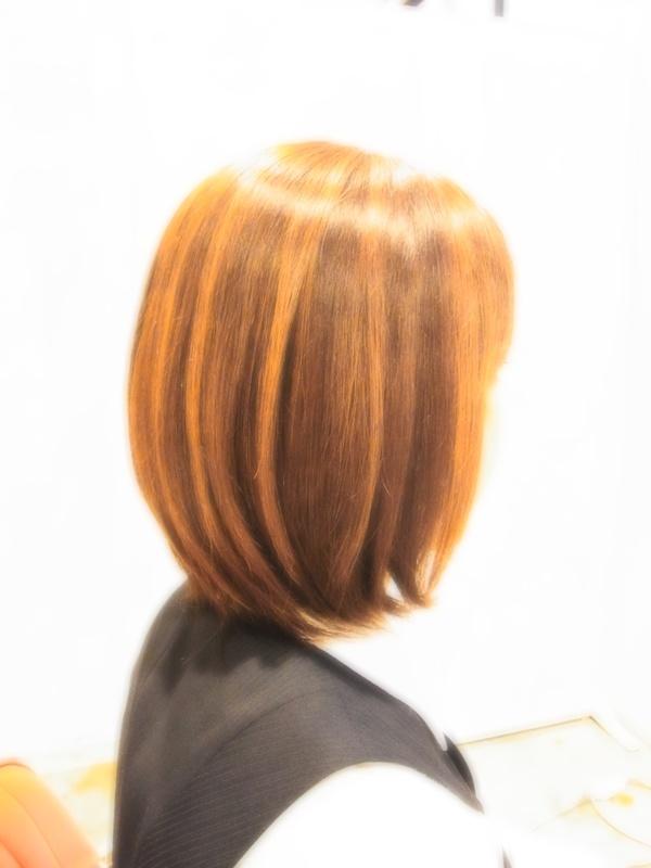 スタイリング簡単プレミアムスーパーカット☆☆☆☆☆&上品ミディアムヘアスタイル☆のサムネイル