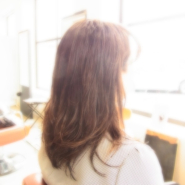 スタイリング簡単プレミアムスーパーカット☆☆☆☆☆&フェミカジュアルセミロング☆ヘアスタイル☆